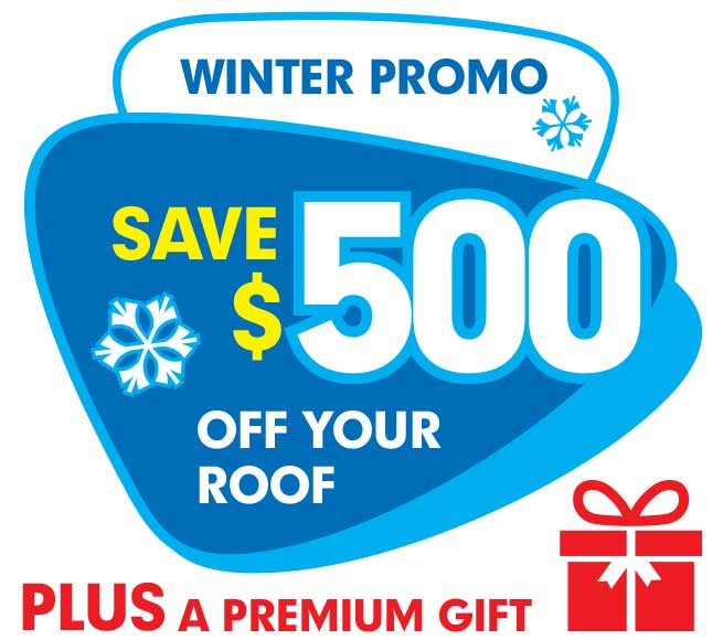 Winter promotion: save $500 of your roof plus a premium gift