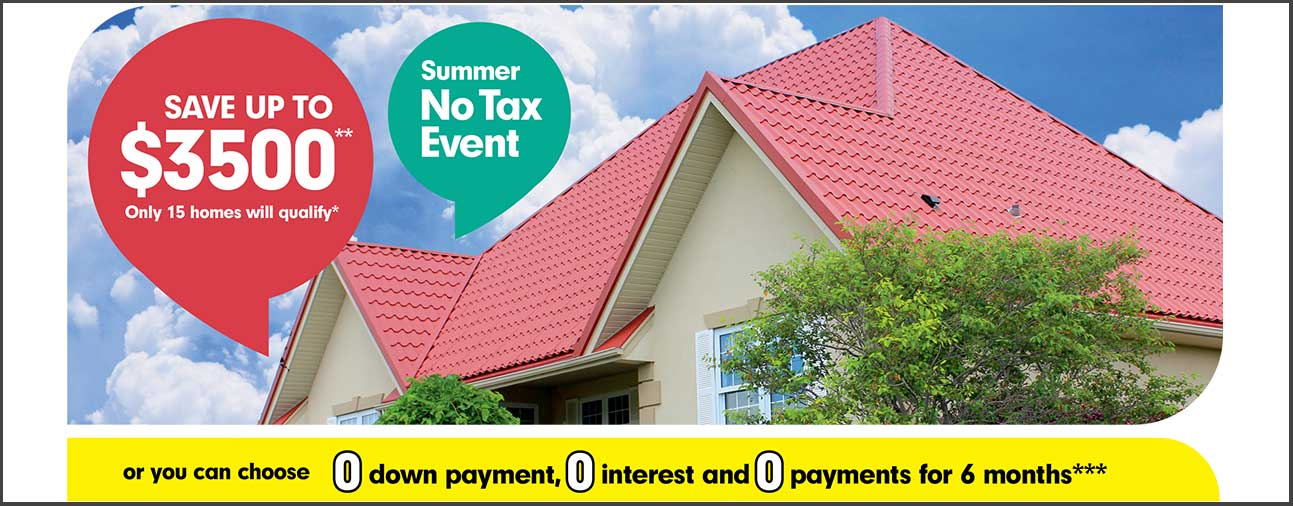 Summer No Tax Event
