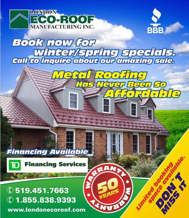 Metal roofing winter, spring special